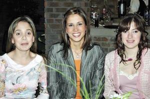 Erika Wolf, Adriana Alarcón y Janet Giacoman