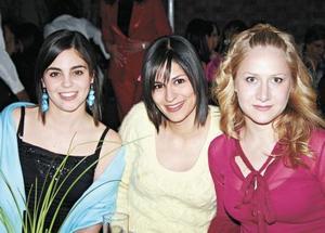 Sory Garza, Paty García y Mónica Fernández