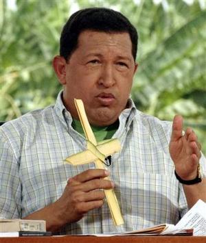 El presidente venezolano Hugo Chávez estuvo presente en la celebración de Domingo de Ramos y dio declaraciones  sobre la Semana Mayor.