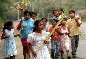 Feligreses de Managua, capital paraguaya.