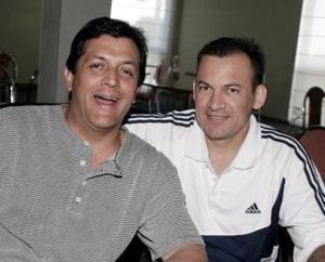 Omar Aguirre y óscar Müeller.