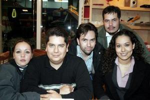 Marlén de Rangel, Aurelio Rangel, Georgina Cabrera, Ernesto Rivera y Federico Torres.