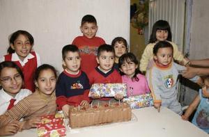 Los gemelos Francisco y Emmanuel Meléndez Arriaga en su quinto cumpleaños.
