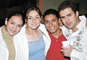Mariana Lugo, Cova Murra, David García y Gustavo de la Garza