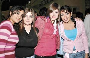 Christiane Cornú, Cristy Contreras, Ana Vicky y Sandra Valencia