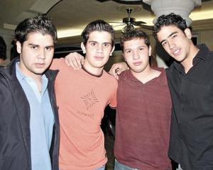David Ogazón, Emilio Darwich, Alejandro Aguilar y Benjamín Suárez