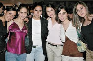 Arely Giacoman, Diana Zarzar, Dany Parra, Fer García, Sory Garza y Erica Gutiérrez