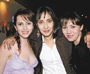 Helwe Dabdoub, Cristina Flores y Rhoda Real