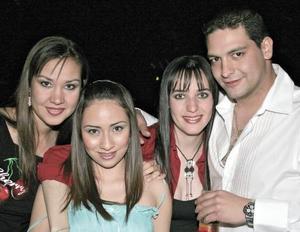 Lety Castro, Claudia Velasco, Berenice Ramírez y Vidal Jaidar