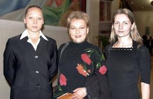 Deniza Kouznetchonkova, Natalia Riazanova y Liliana Akatova.
