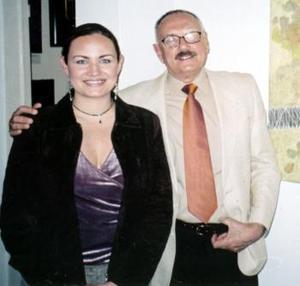 Érika Balbuena de De la Peña y Sergio Chapoy , en reciente acontecimiento social.