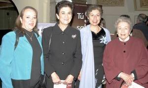 Nancy de Jalife, Marilú de Anaya, Pilar López y Pilar de López.