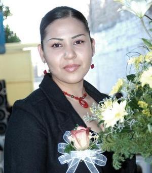 Karina Rangel Álvarez en su despedida de soltera.