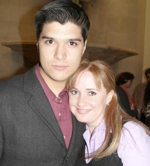 <b>22 de marzo 2005</b> <p>  David González y Brenda Noyola.