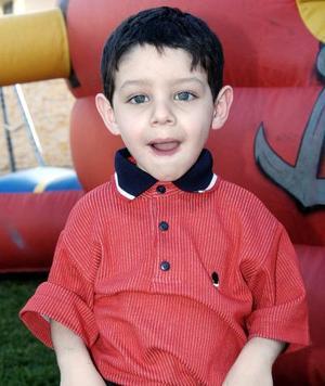 Carlos Alejandro González Vargas cumplió tres años de vida.