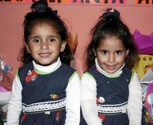 Las pequeñas Alejandra y Estefanía Bautista Rivera cumplieron cuatro años de vida.