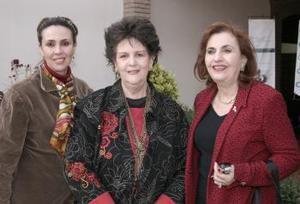 Nora de Miller, Paty de García, y Cristina Zarzar de Kawas.