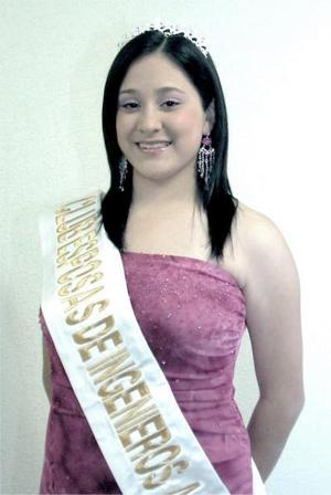 Srita. Alejandra Zarina Castro Martínez fue coronada reina del Club de Esposas de los Ingenieros Agrónomos.