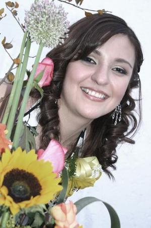 Cynthia Yolanda Santibáñez García en su despedida de soltera.