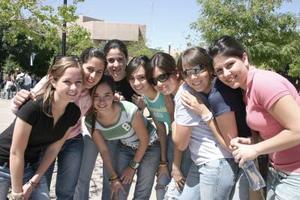 Luisa, Marcela, Luisa, Sofía, Aranza, Ana, y Andrea.