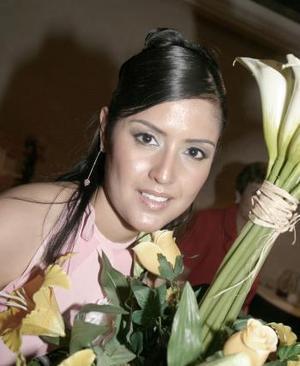Marcela Ayala Alanís, captada en su primera despedida de soltera.