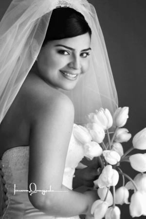 Ing Norma Elia Recio Arias el día de su enlace matrimonial con el Ing. Jesús Iván Obregón Alba.