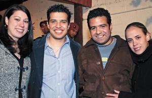 Jen Bengfort, Fernando Castañeda, Rodrigo Castañeda y Marcela Herrera