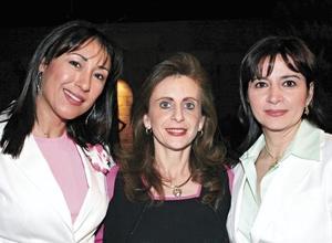 Gina Treviño, Katia de Zarzar y Anabel de González