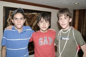 Ricardo González, César Martínez y Abraham Aguado.