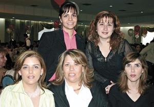 Lucía de Reed, Rocío de González, Ileana de Reed, Mónica de Villarreal y Any de Campillo