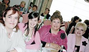 Ángeles de Valles, Mayte Núnez, Rosy de Pérez y Hortensia de Chávez