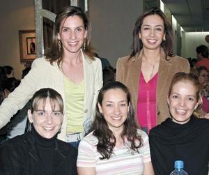 Rosy Granados de Ramírez, Gaby de Bernal, Heidi de Ibarra, Anelise de Martínez y Diana de Gavela