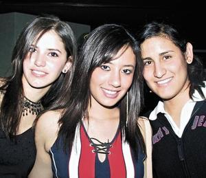 Mariana Lugo, Stephy Miranda y Mariely Romo