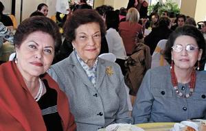 Conchita de Arias, Chelo Iriarte de González y Marilú de Tomé
