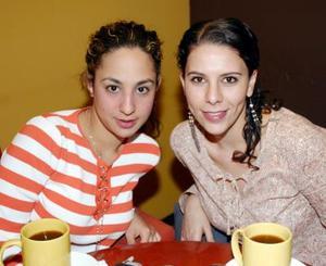 <b>01 de abril </b><p>  Tania Mansur y Rocío Nassar