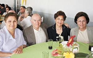 Emilia G. de García, Samuel Alatorre, Coqui Cantú de latorre y Lupita Llama