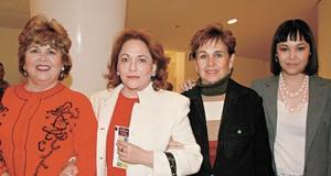 Quechu S. de Álvarez, Mague Soto, Cope Ramírez y Yerile Dipp