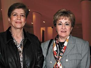 Ofelia Lira Almada y Alicia V. de Flores