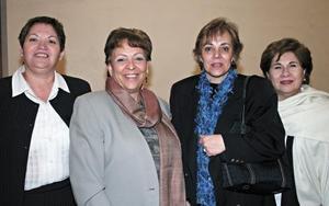 Isabel Garza, Rita Sánchez, María Rosa Sánchez y Yolanda Porragas