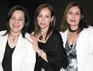 María Constanza Valdéz de la Garza, Patricia Valenzuela Ramírez y Claudia Ávila de Odriozola