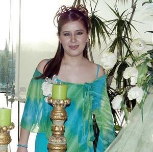 Alma Elizabeth Alemán Pérez el día de su despedida de soltera.