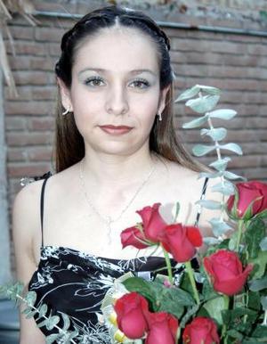 María Eugenia Ramírez en su despedida de soltera.