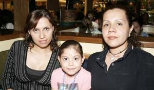 Betty Padilla, Andrea Ortiz y Wendy Holguín