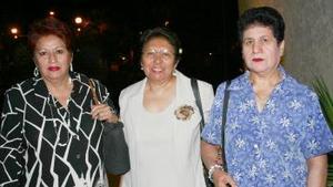 Martha Santibáñez, Élida Hernández y Socorro de Medrano.
