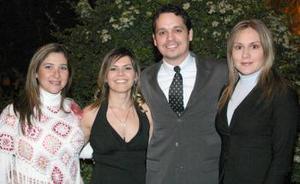 Pilar Guerrero, Silvia Padilla, Ricardo Martínez y Laura Santibáñez.