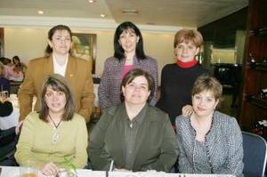 Martha de Chibli, Caty de Bejarano, Paty de Alburquerque, Caro de García, Sandra de Fraustro y Laura de Robles.