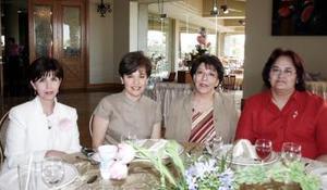 Carolina de Landeroa, Rosalinda de Jiménez y Bertha de Zarzar y Hortensia de Rivero.