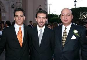 José Vidal, Jaidar Luis Peressini y Germán Ortiz
