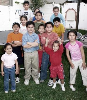 <b>07 de abril </b> <p> Mario Eduardo Delgado Castellanos disfrutó de un divertido convivio con sus amigos el día que cumplió ocho años.