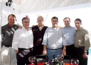<b>07 de abril</b><p> Federico Sáenz, Alejandro Córdoba, Marcelo Bremer, Jorge Pérez y Marco Landeros.